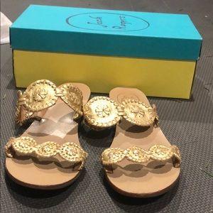 Jack Rogers Lauren Gold Sandals